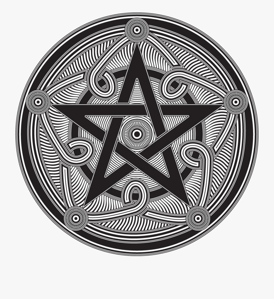 Transparent Pentagram Clipart - Pagan Pentacle, Transparent Clipart