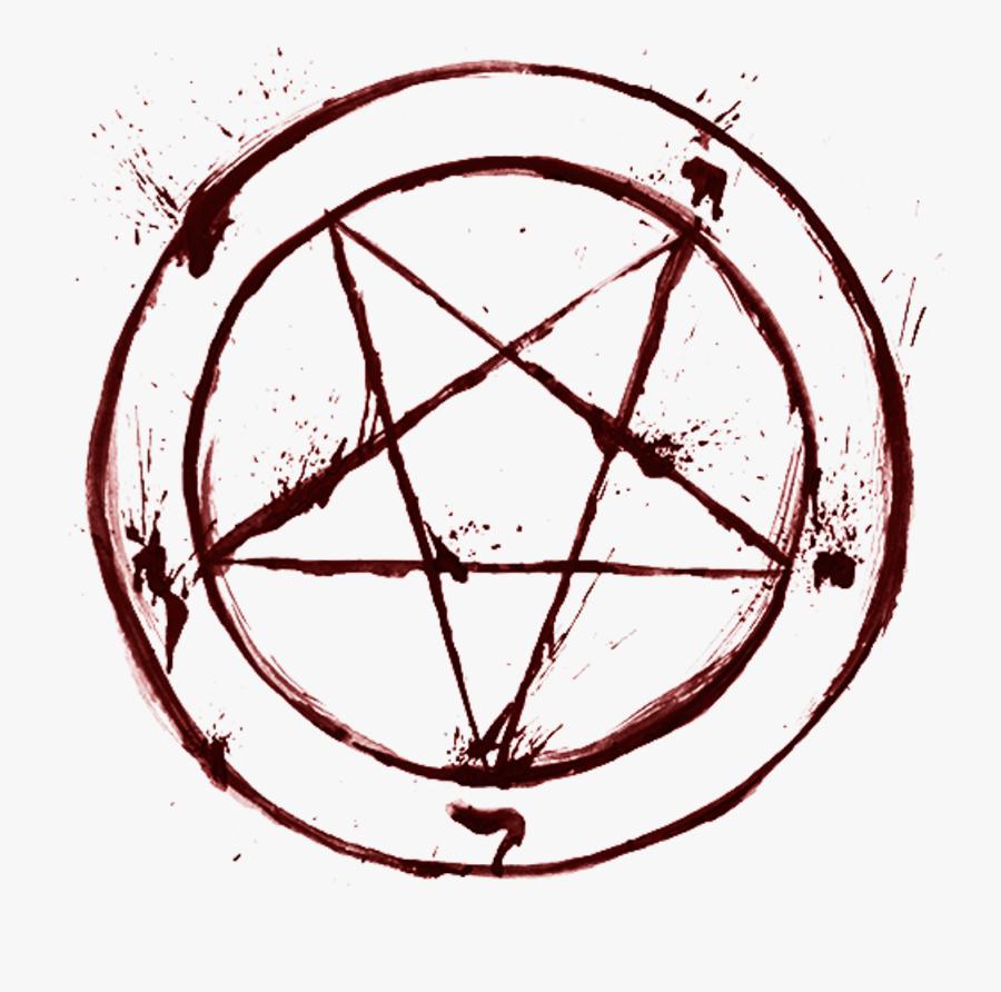 #blood #satan #pentagram #occult #religion #goth - Satanic Pentagram Png, Transparent Clipart