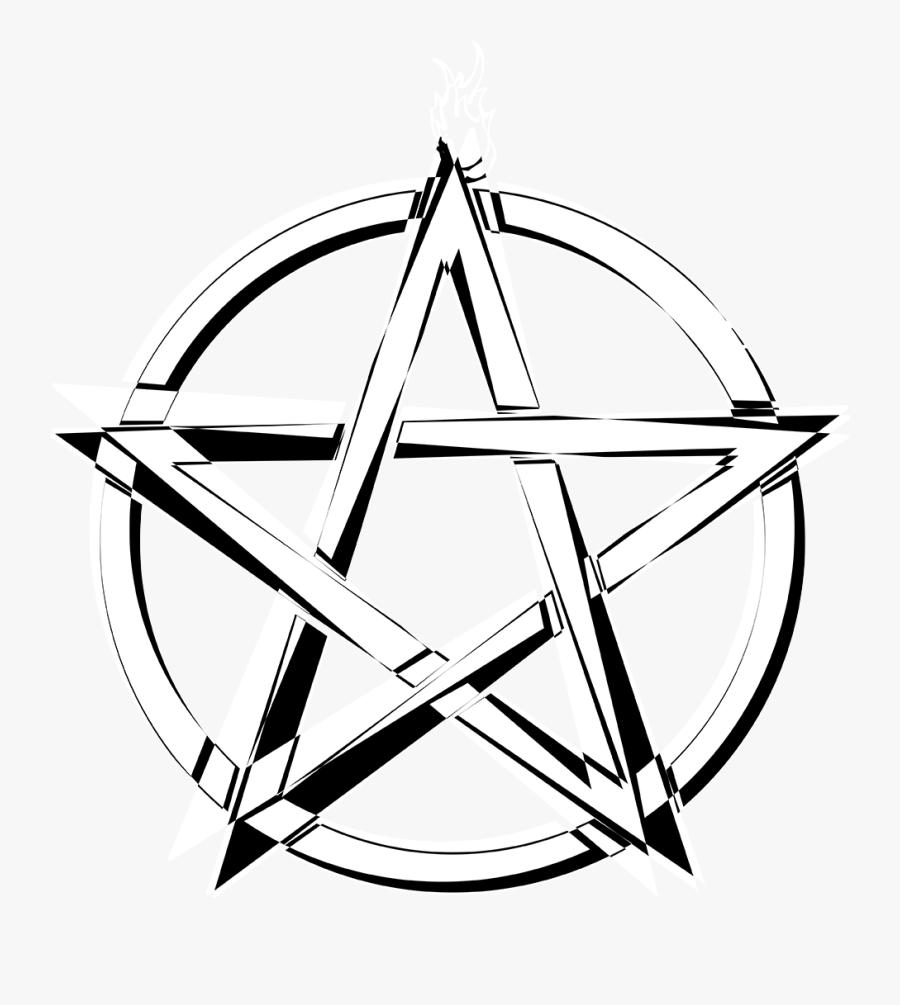 #pentagram #creepy #creepyedit #dark #darkness #evil - Line Art, Transparent Clipart