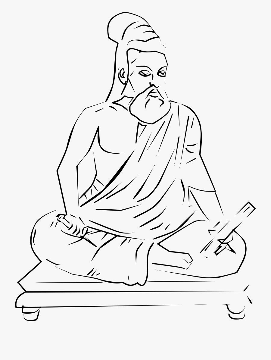 Transparent Meditate Clipart Thiruvalluvar Images Pencil Drawing Free Transparent Clipart Clipartkey