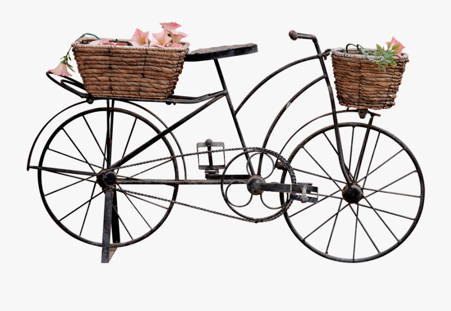 Tricycle - Bicycle With Basket Png, Transparent Clipart