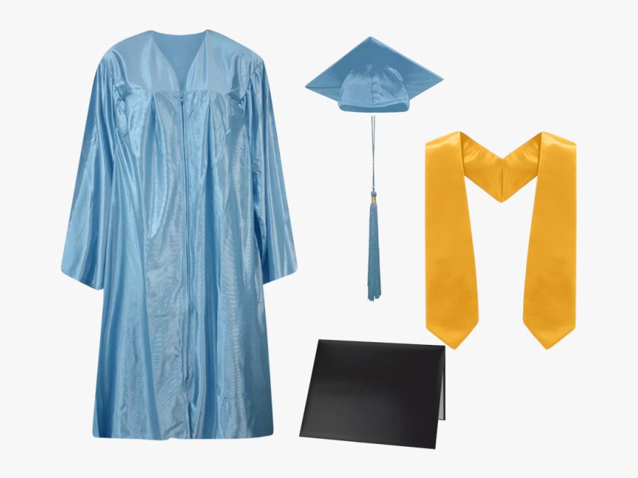Graduation Gowns Caps And Tassels, Transparent Clipart
