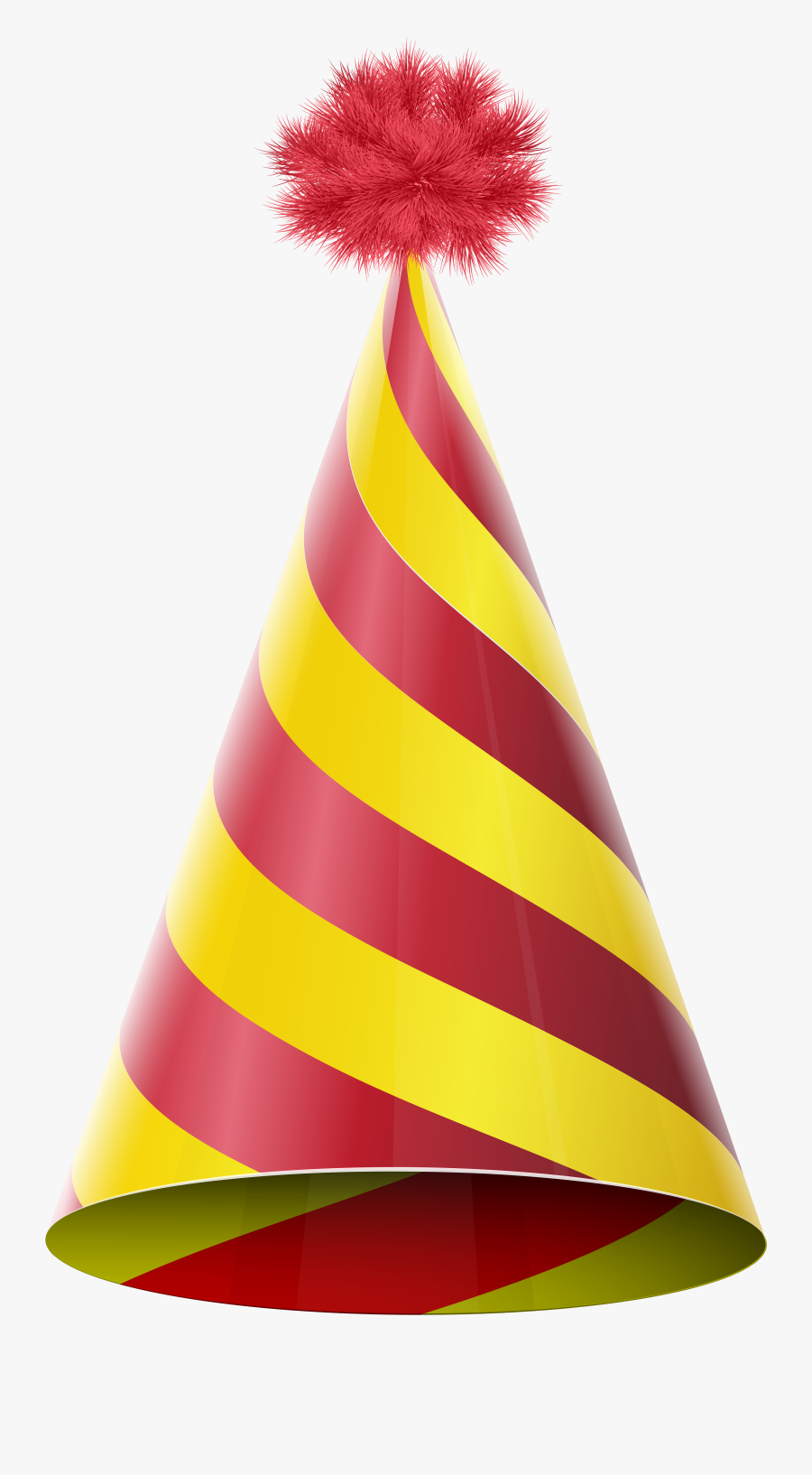 Party Hat Red Yellow Transparent Png Clip Art Image - Red And Yellow Party Hat, Transparent Clipart