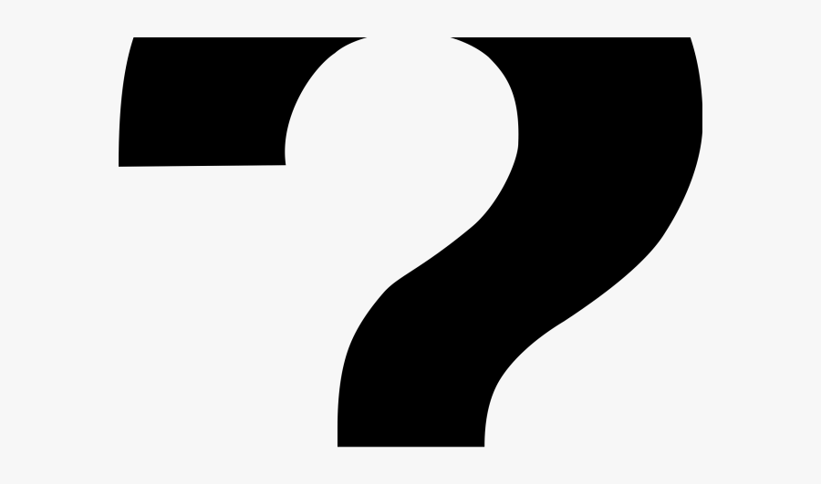 Question Mark Clipart Question And Answer - White With Black Border Question Mark, Transparent Clipart