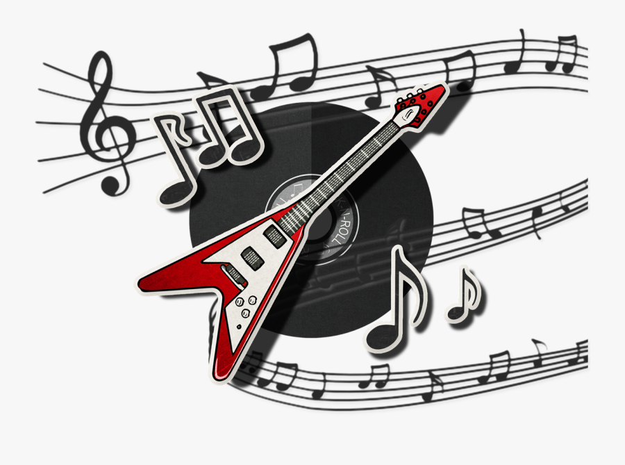 Transparent Rock Music Clipart - Rock And Roll Music Notes, Transparent Clipart