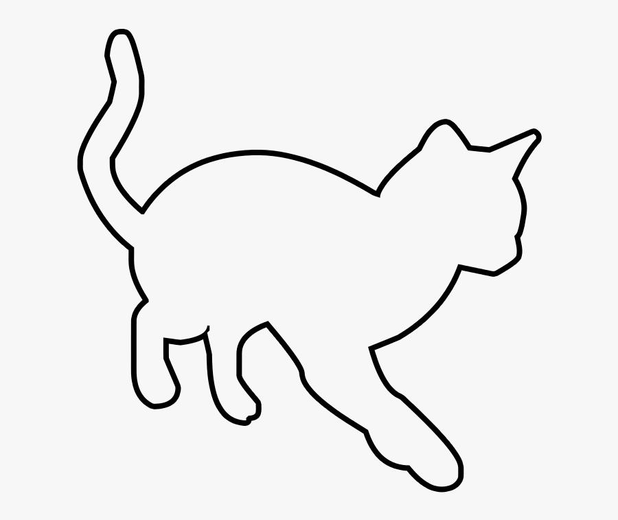 Transparent Cat Clipart Outline - Line Art, Transparent Clipart