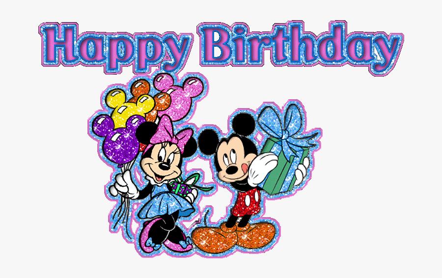 Happy Birthday Glitter Images, Happy Birthday Kids, - Happy Birthday Minnie Mouse Gif, Transparent Clipart