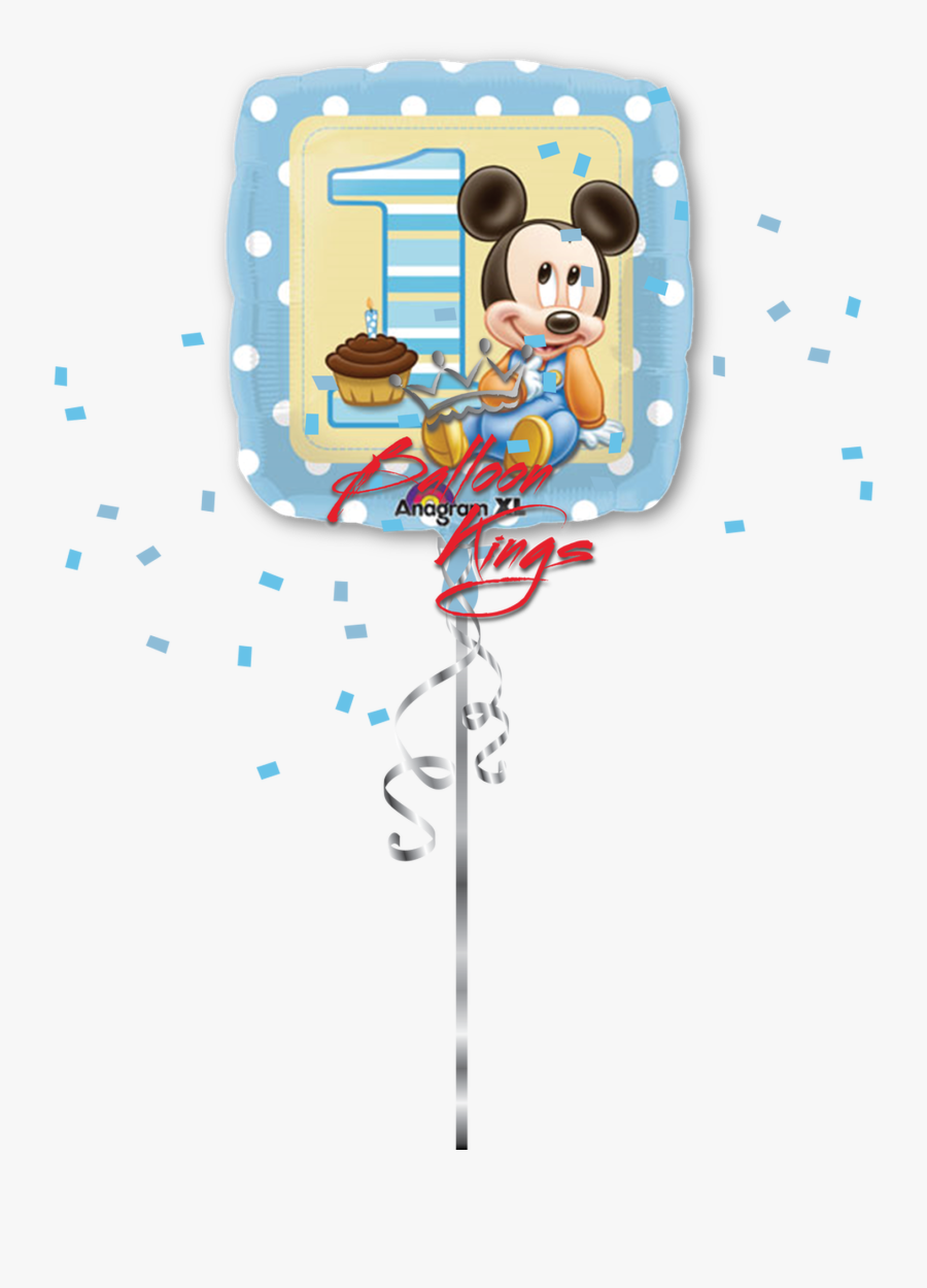 Transparent Mickey Balloons Clipart - Baby Blue Mickey Mouse, Transparent Clipart