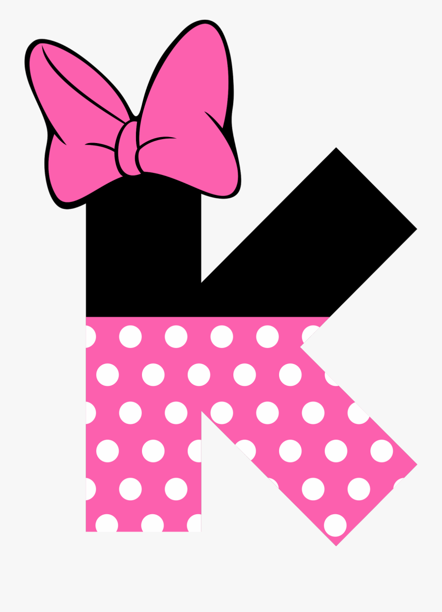 Hello Kitty Birthday, Minnie Mouse Party, Mickey Mouse, - Pink Minnie Mouse Letter, Transparent Clipart