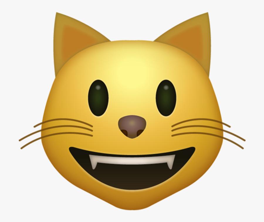 Transparent Smile Emoji Png - Cat Emoji, Transparent Clipart
