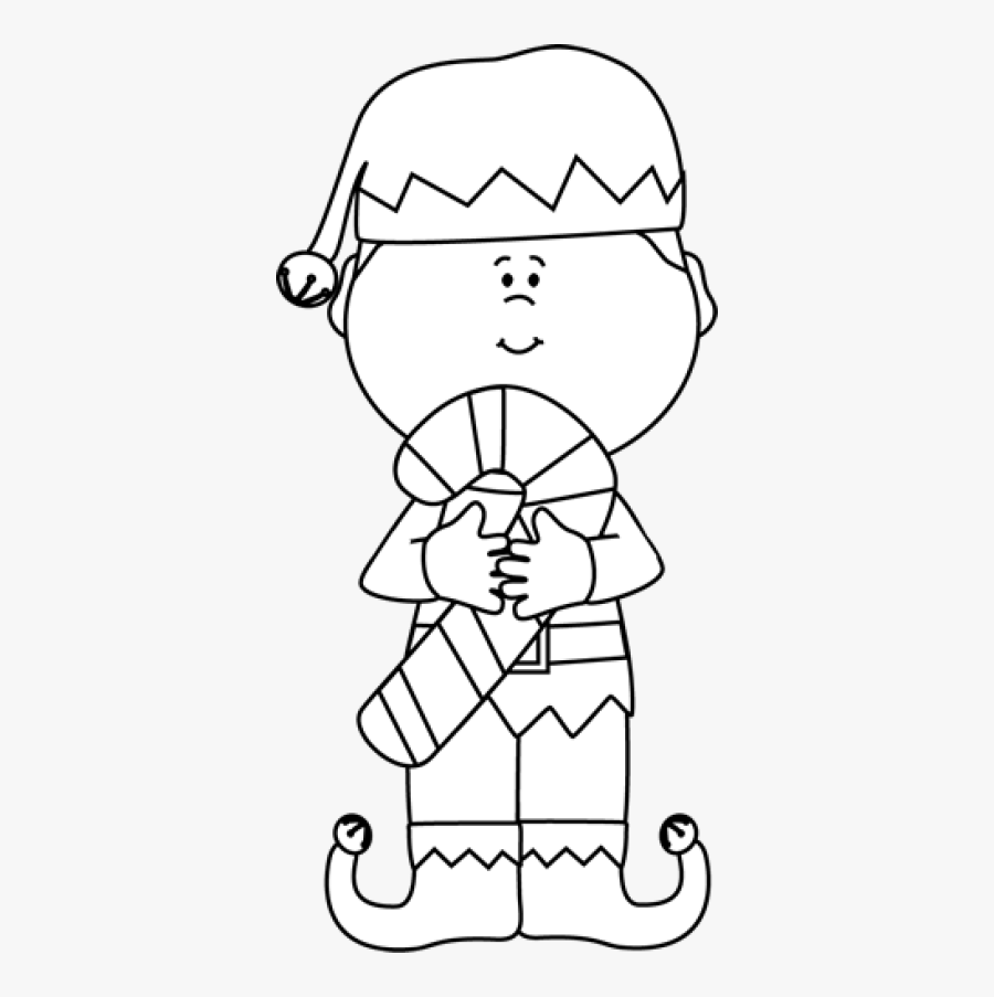 Pin Elf Clipart Black And Whi - Transparent Christmas Elf Clipart, Transparent Clipart