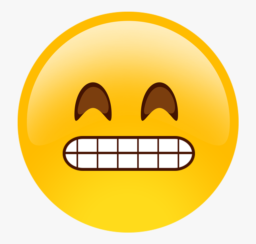 Stiff Emoji, Transparent Clipart