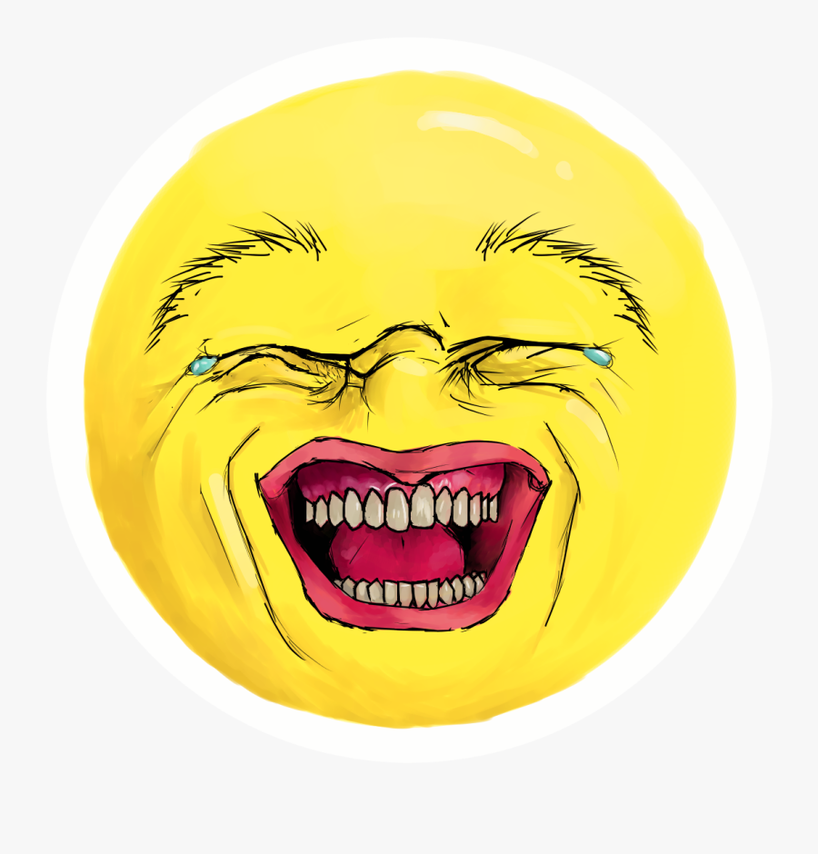 Png Black And White Library Sugar Honey Iced Tea - Realistic Laughing Crying Emoji, Transparent Clipart