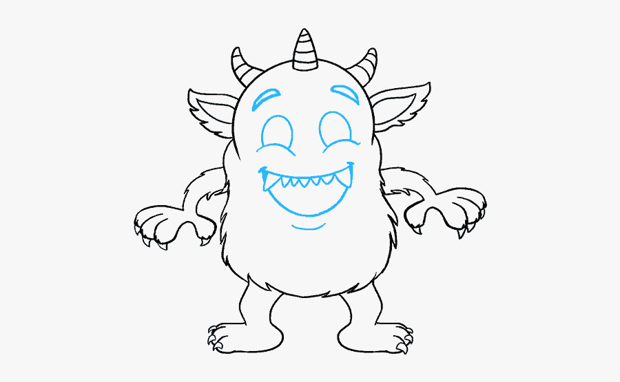 Scary Monster Drawings Easy Free Transparent Clipart Clipartkey