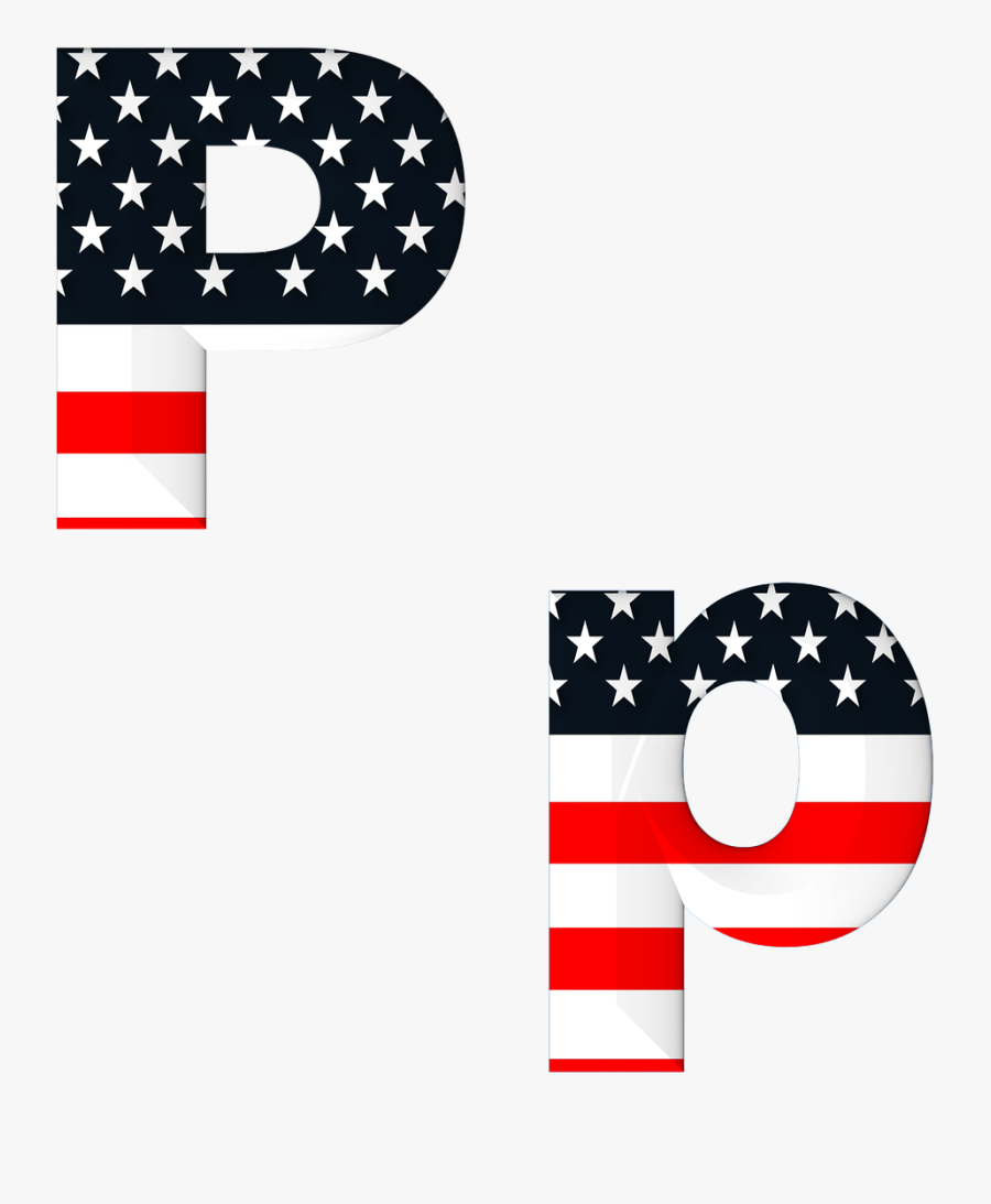 Transparent White American Flag Png - Letter D American Flag, Transparent Clipart