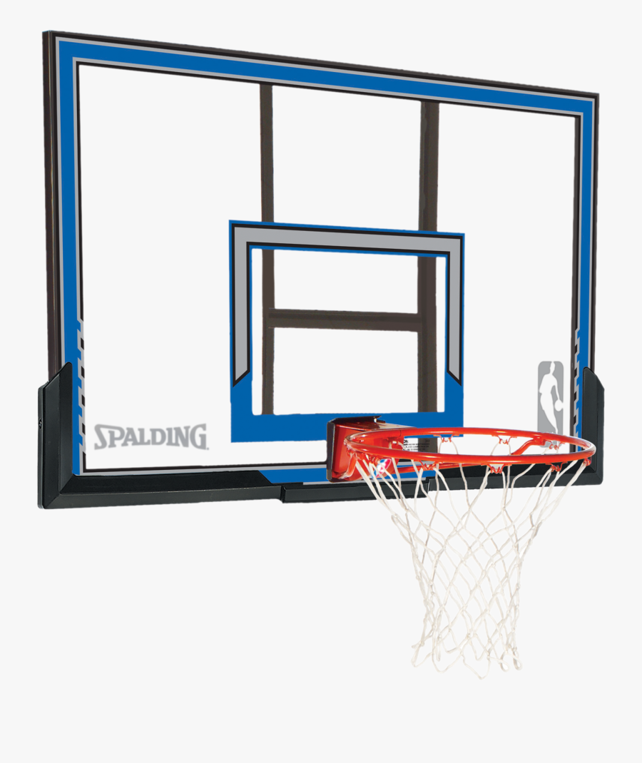 Polycarbonate Backboard And Rim Combo - Spalding, Transparent Clipart