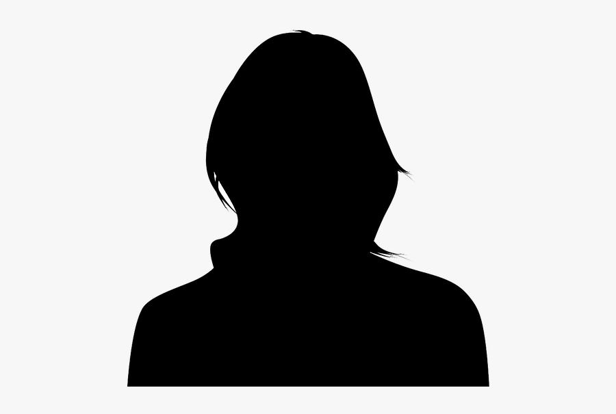 Woman Silhouette Face Front, Transparent Clipart