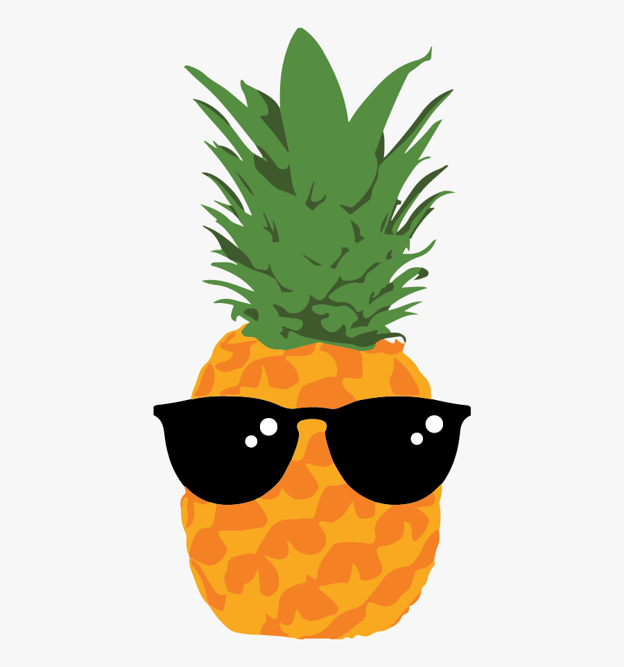 Businesses Can Choose To Participate In The Fruit Challenge - Pineapple With Sunglasses Cartoon, Transparent Clipart