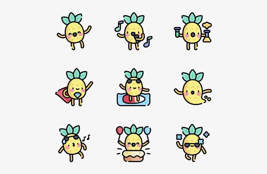 Pineapple Character - Cartoon, Transparent Clipart