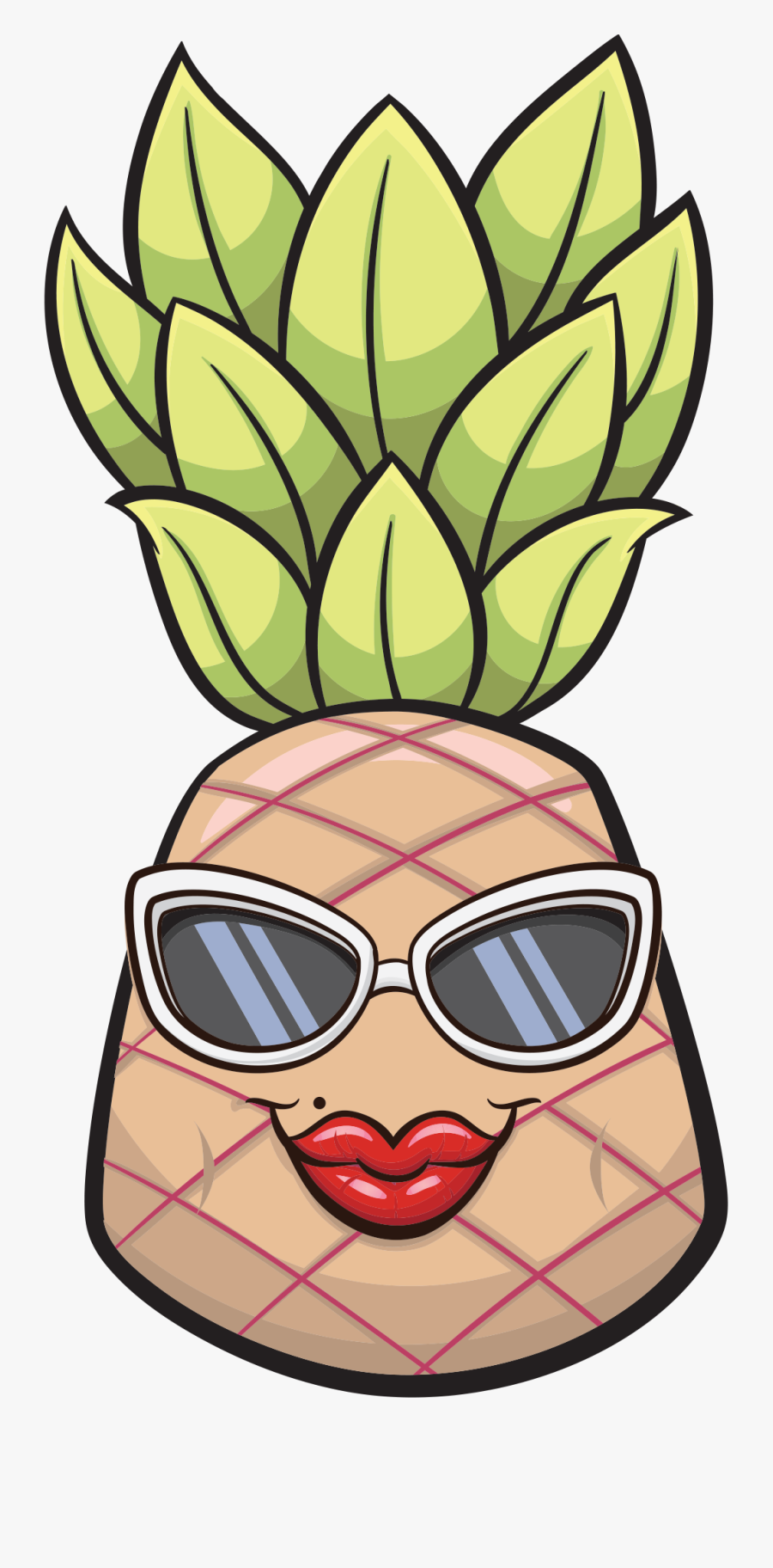 2019 Pineapple Hospitality - Illustration, Transparent Clipart