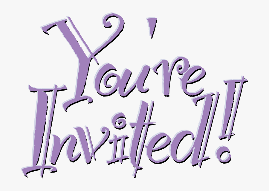 Transparent Re Clipart - You Are Invited Word, Transparent Clipart