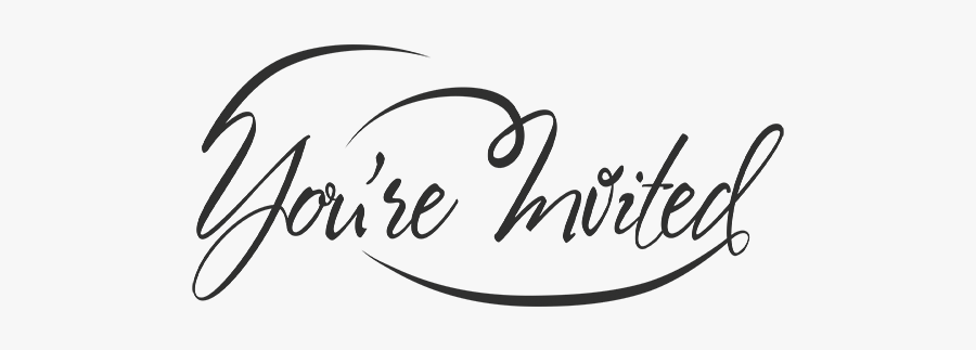 Invited Wedding Word Art - Transparent You Are Invited Png, Transparent Clipart