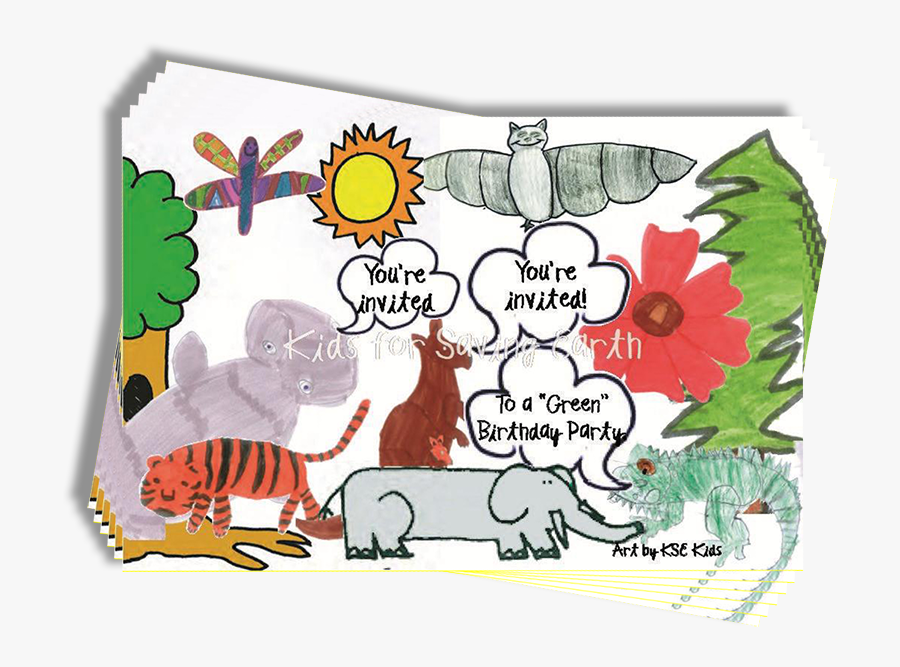 """Transparent You""""re Invited Birthday Clipart - Sabe Animals Dave Earth, Transparent Clipart"""