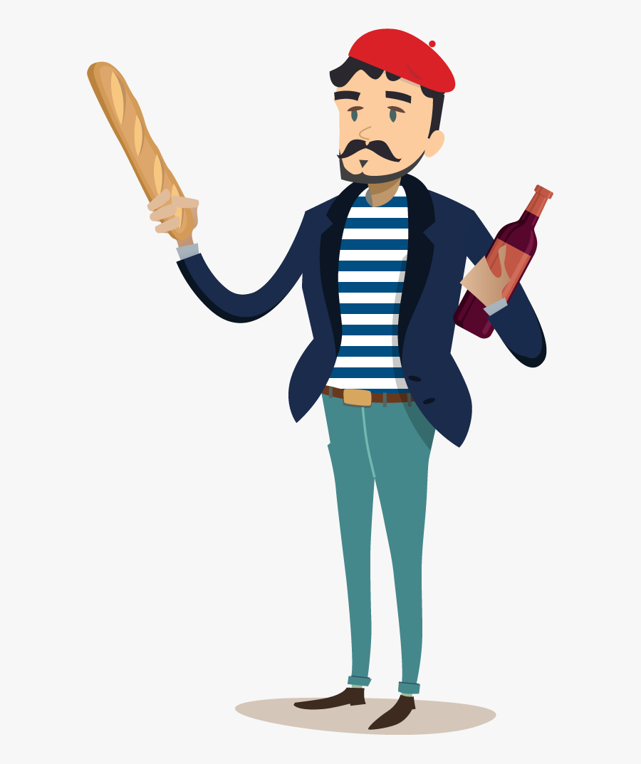 French Person Clipart Png, Transparent Clipart