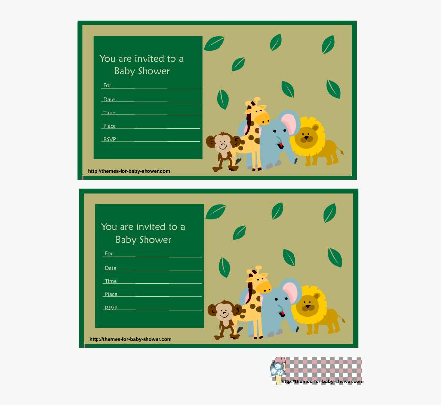 Baby Shower Invitations - Invitaciones De Cumpleaños De Safari Para Imprimir, Transparent Clipart