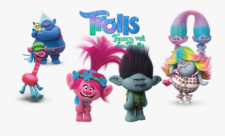 Transparent Trolls Movie Characters Png - Trolls Holiday Trolls, Transparent Clipart
