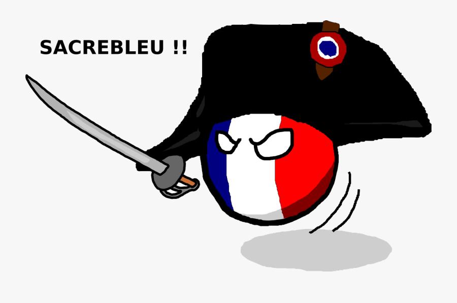 French Clipart Francais - France Polandball, Transparent Clipart