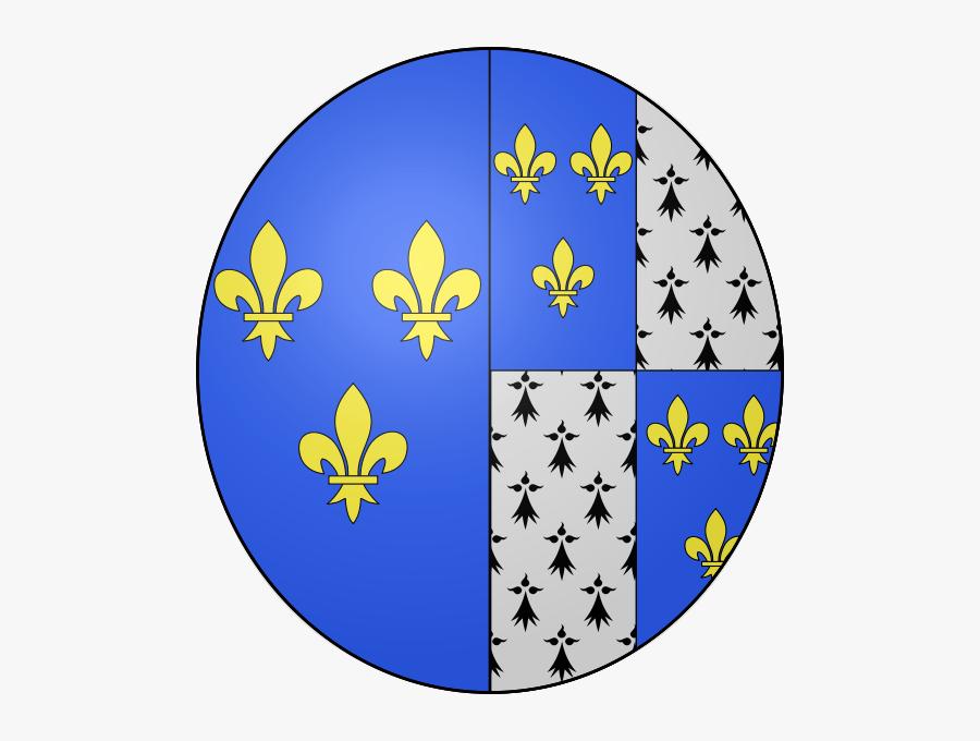 Coat Of Arms Of Queen Claude Of France - Jean I Duke D Alencon, Transparent Clipart