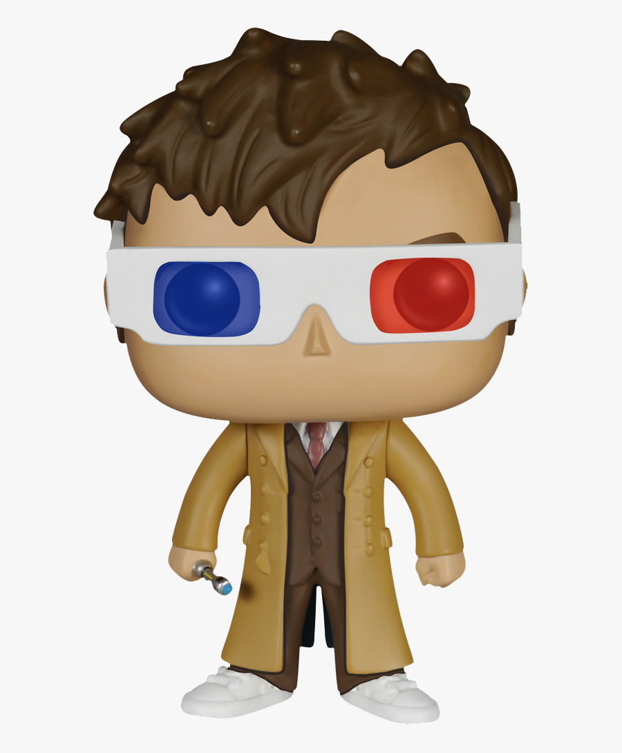 10th Doctor Png - Funko Pop Tenth Doctor 3d Glasses, Transparent Clipart