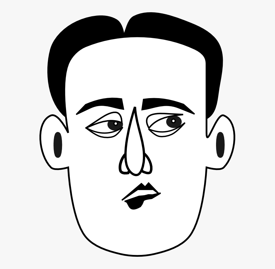 Small Mouth Clipart - Sad Man Face Clipart, Transparent Clipart