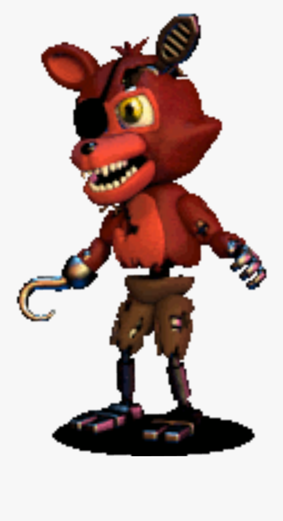 """Fnaf World Five Nights At Freddy""""s Gif Game Tenor - Fnaf Adventure Withered Foxy, Transparent Clipart"""