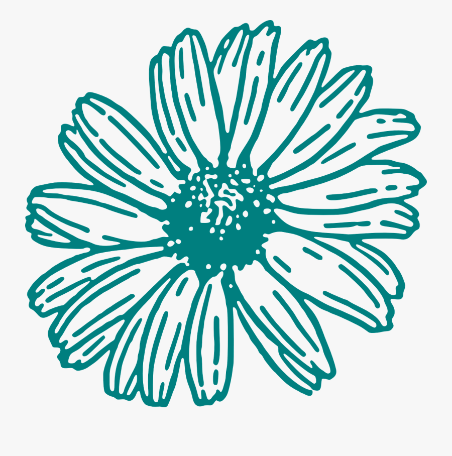 Teal Flower Clipart Transparent, Transparent Clipart