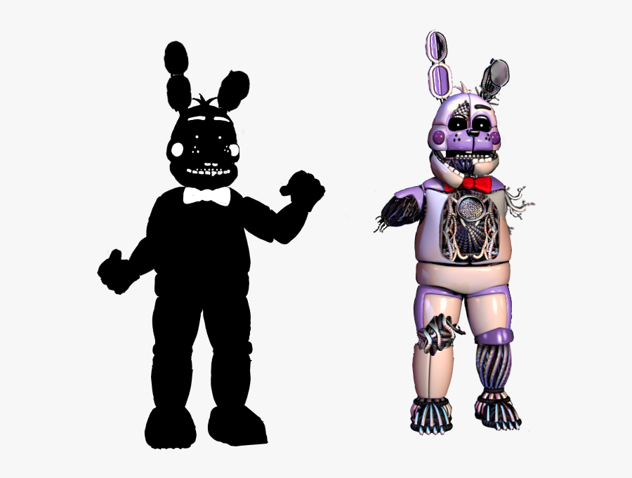Funtime Shadow And Old Bonnie By Fnaf Fan201 - Fnaf Bendy And The Ink Machine, Transparent Clipart