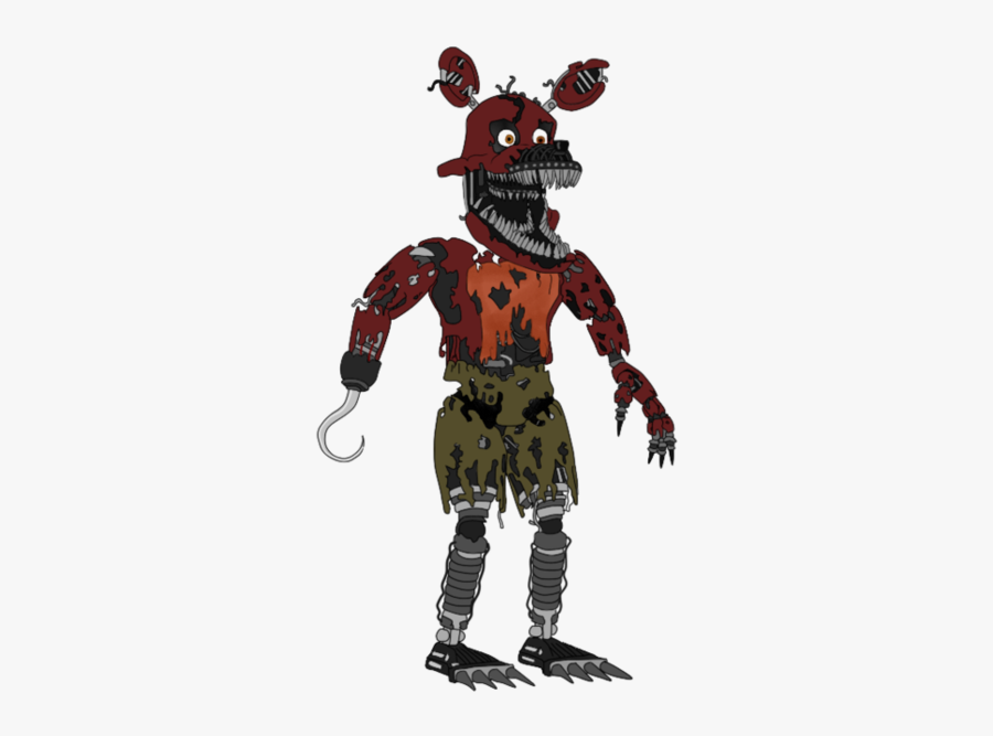 """Five Nights At Freddy""""s 4 Nightmare - Fnaf 4 Nightmare Foxy Full Body, Transparent Clipart"""