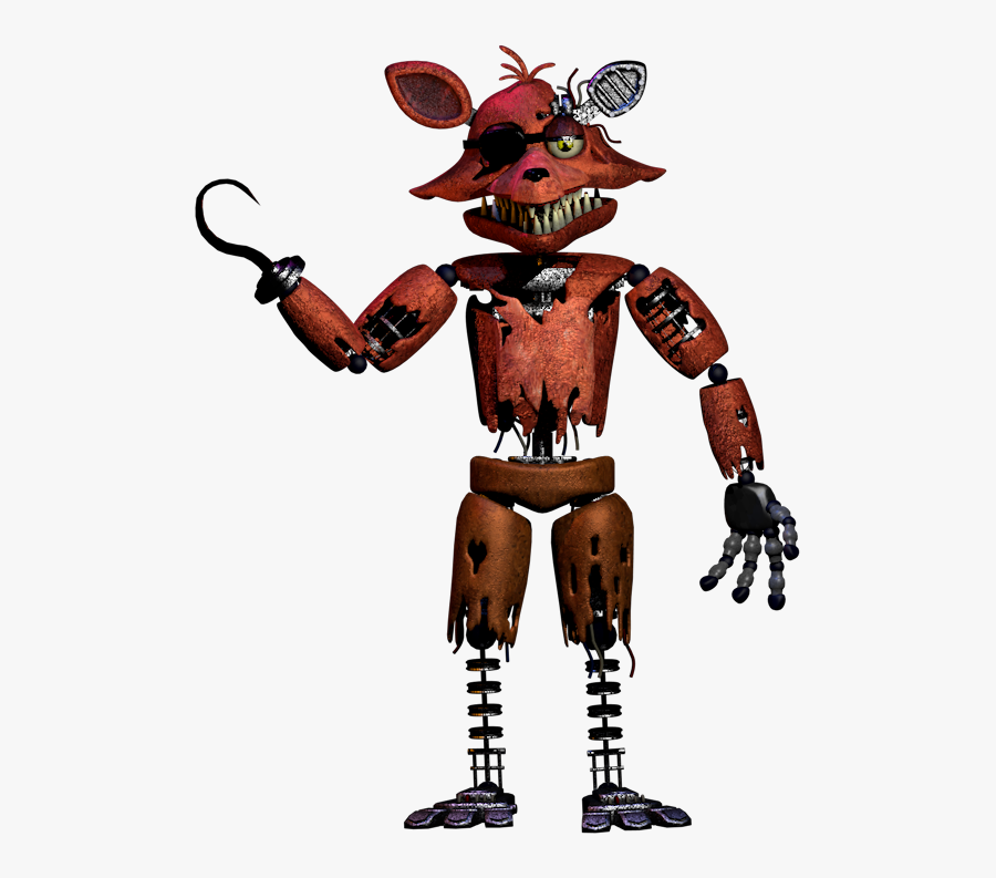 "Five Nights At Freddy""s 2 Drawing Animatronics - Five Nights At Freddy's 2 Withered Foxy, Transparent Clipart"