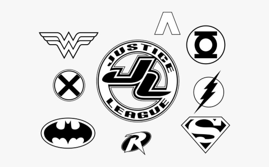 Premier League Clipart Logo - Justice League Logo Stencil, Transparent Clipart