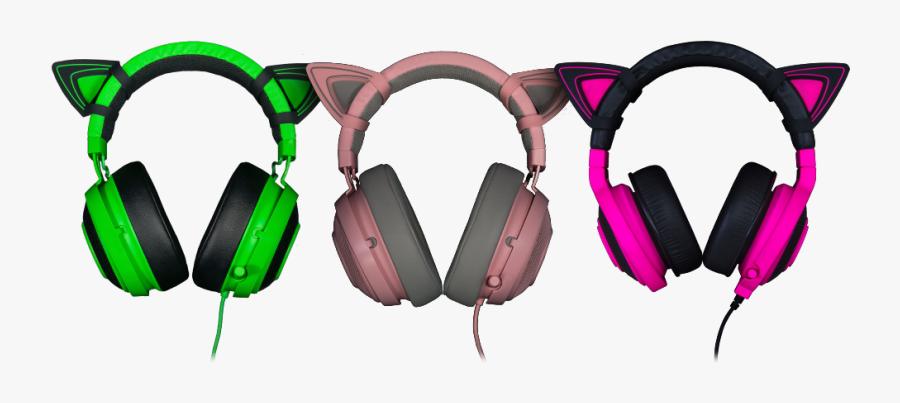 Png Transparent Kitty Ears For Razer - Razer Kraken Kitty Ears, Transparent Clipart
