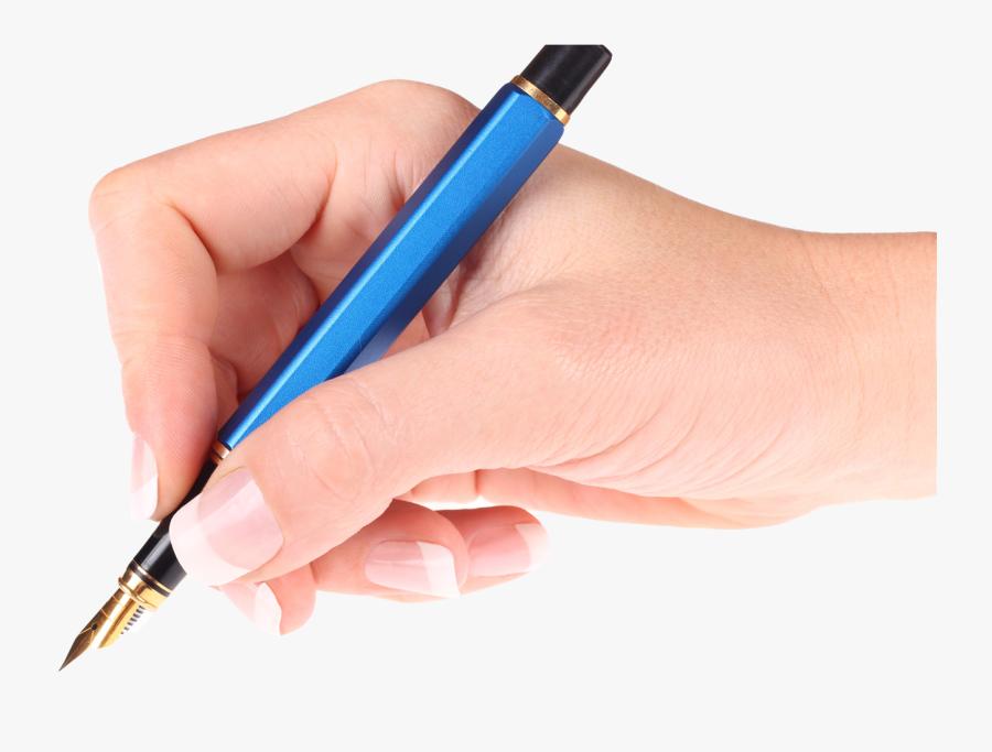 Clip Art Hand Holding A Pen - Pen In Hand Png, Transparent Clipart
