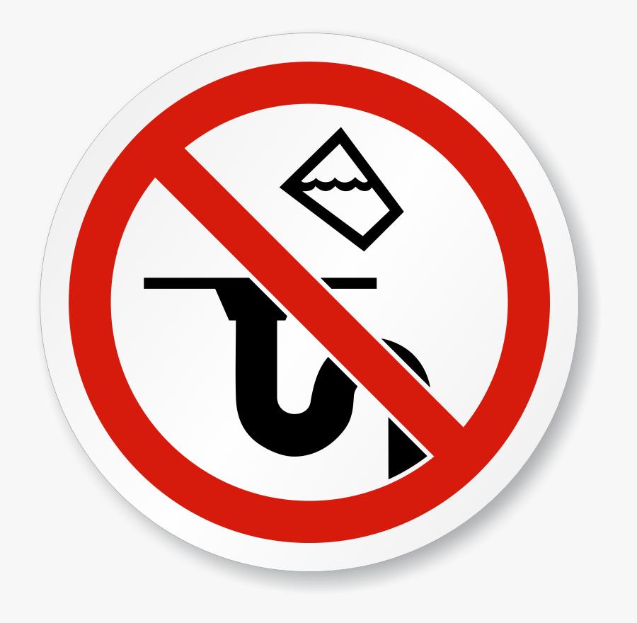 Do Not Pour Liquids Down Drain, Transparent Clipart