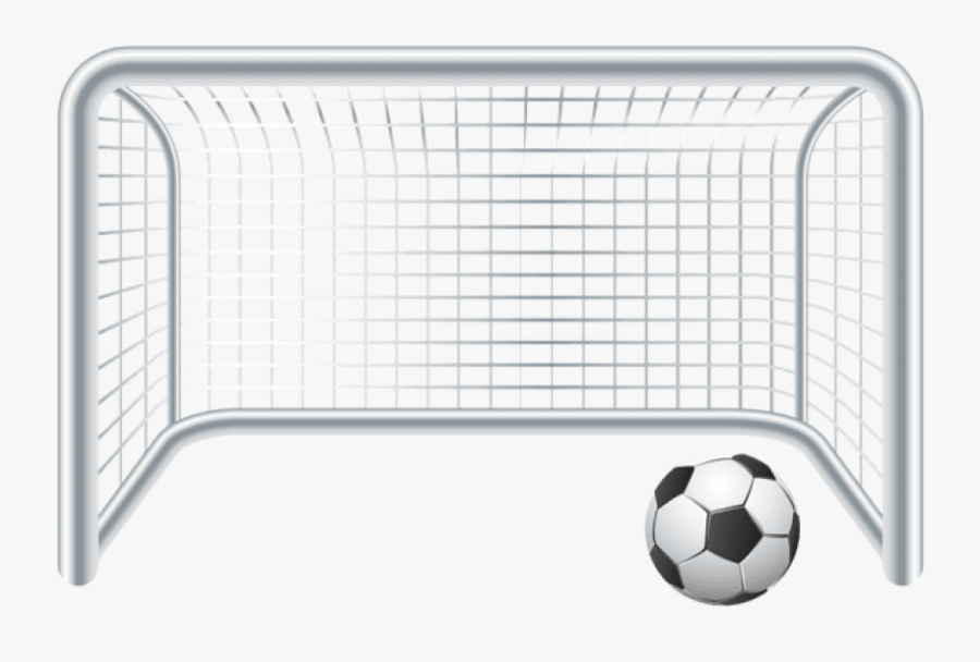 Free Png Download Soccer Ball And Goal Gate Png Images - Soccer Goal Clipart Png, Transparent Clipart