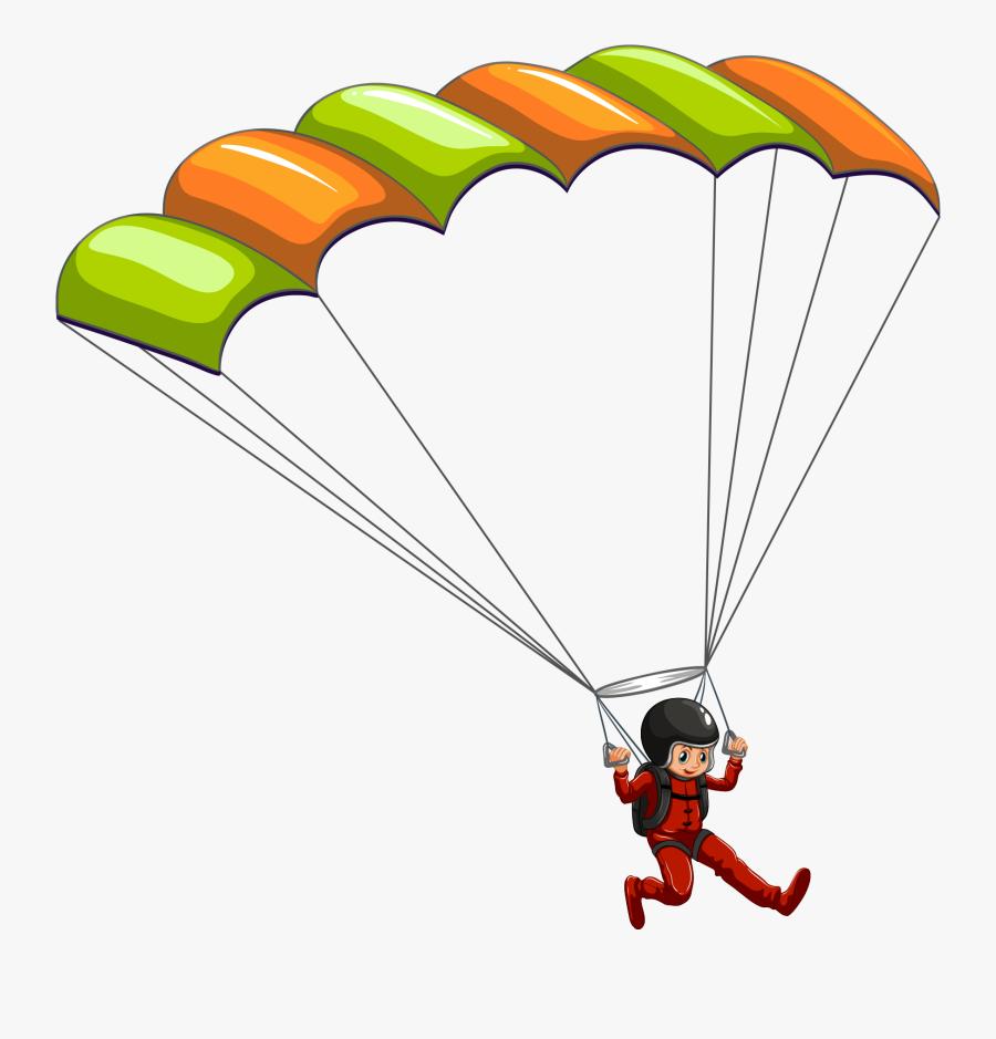 Clipart Transparent Png Parachute, Transparent Clipart