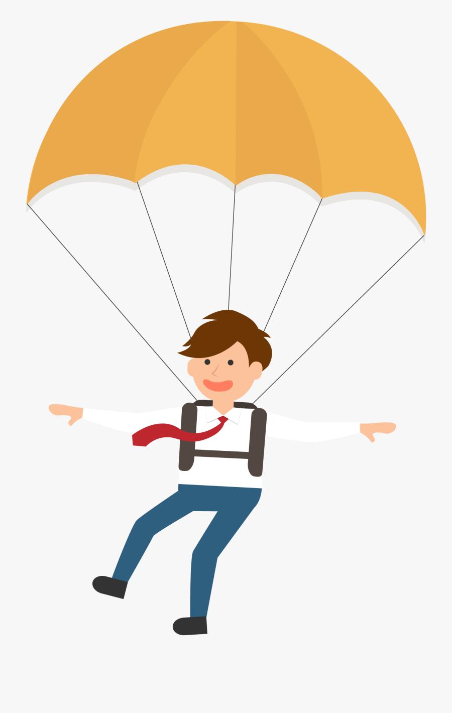 Transparent Paratrooper Png - Parachuting Clipart Png, Transparent Clipart