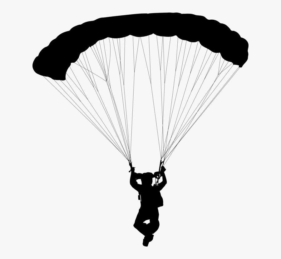 Paratrooper,air Sports,parachute - Parachuting, Transparent Clipart
