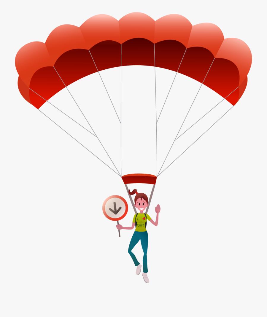Transparent Skydiving Clipart - Parachuting, Transparent Clipart