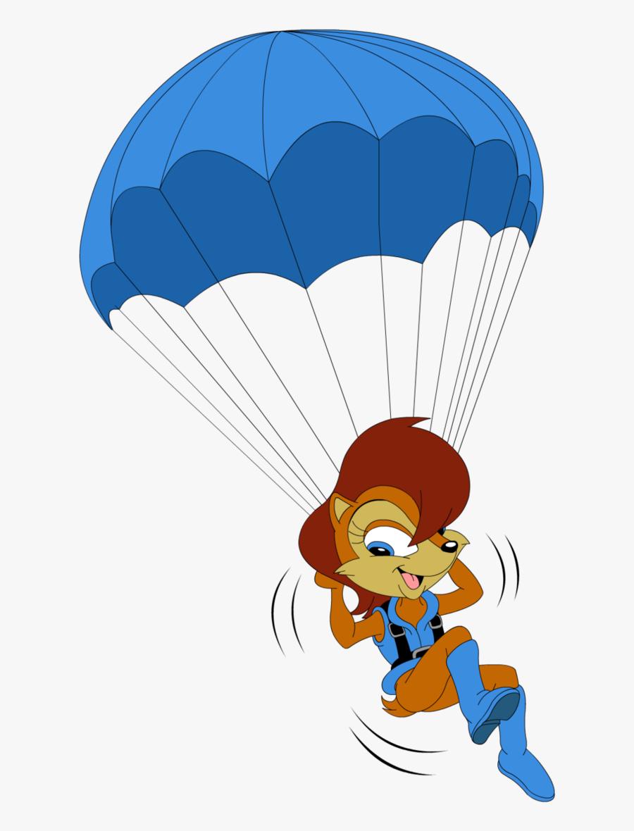 Parachute Hd Png Transparent Parachute Hd Clipart , - Sally Sonic Parachute, Transparent Clipart