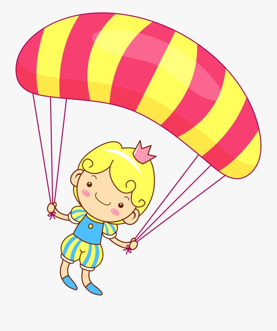 Clip Art Gliding - Cartoon Parachute, Transparent Clipart